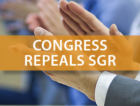 How will the SGR repeal law affect your practice?