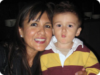 Diana Ramos, MD, MPH with her son Jimmy
