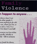 AMA family violence poster
