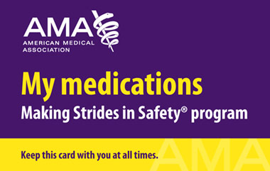 My Medication Card