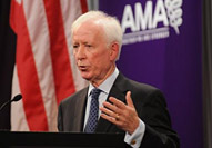 AMA President Cecil Wilson, MD addresses semi-annual meeting