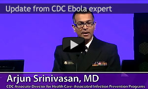 CDC expert Arjun Srinivasin, MD discusses Ebola