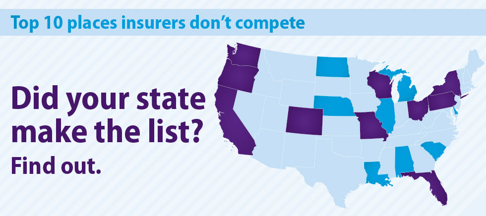 10 top states where health insurers dominate: New study